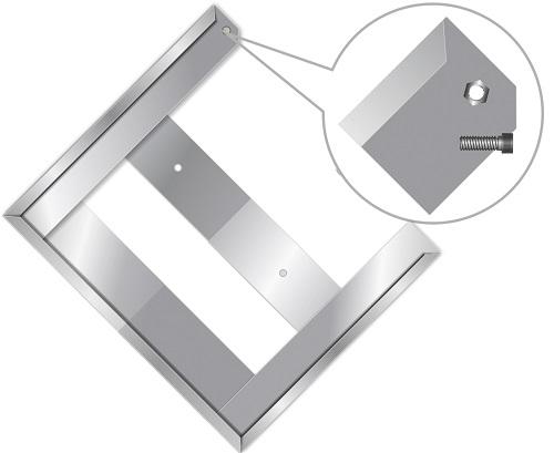 Рамка держатель 400*300мм, металл