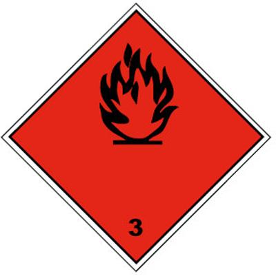 Знак «Класс опасности» ромб, 250*250мм СКП
