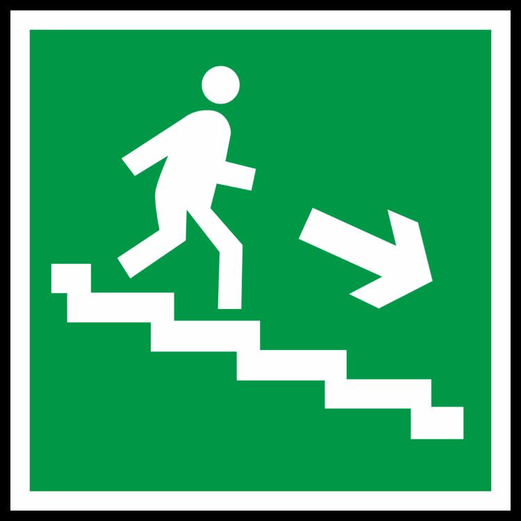 Знак Направление к эвакуационному выходу 200*200 ФЭС